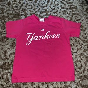NEW YORK YANKEES JETER PINK T SHIRT SIZE 4T